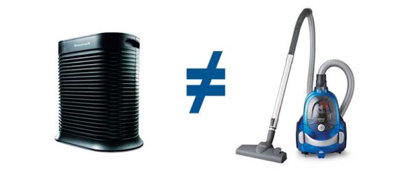 Air purifier is not vacuum cleaner